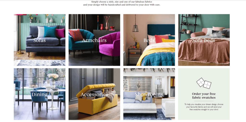 Пример интернет-магазина мебели с хорошим дизайном - 3