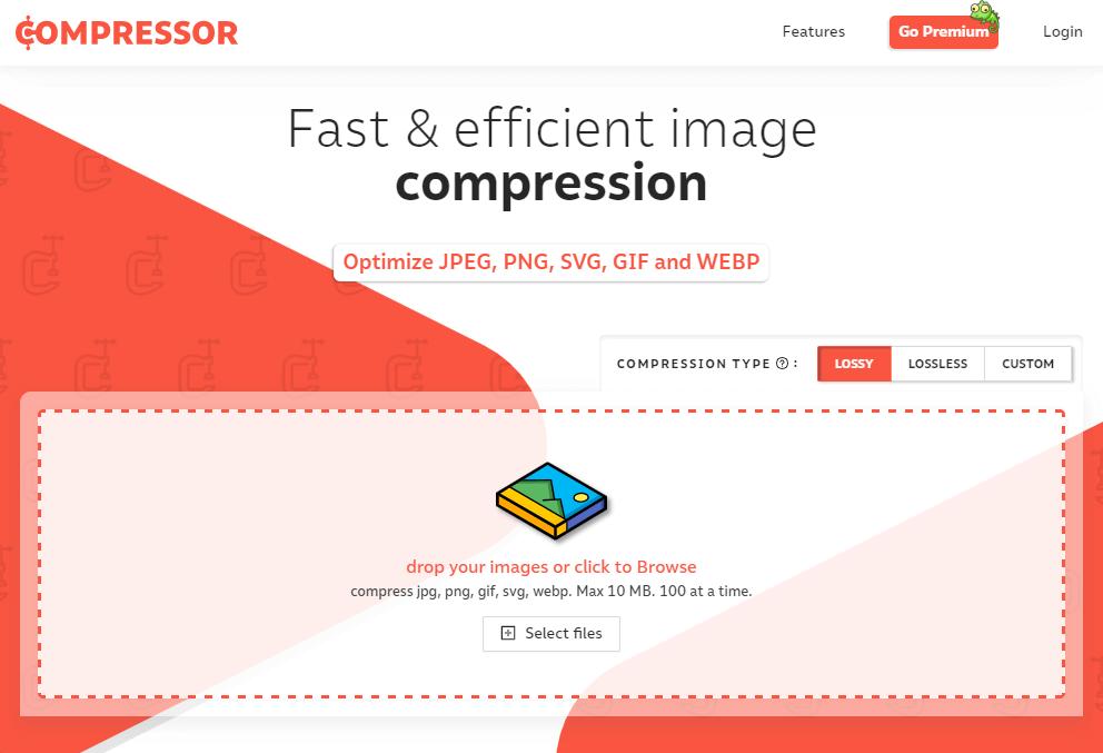 Сервис сжатия изображений Compressor.io